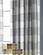 envoy Plaid Curtain Panel available in 7 colors