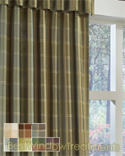 envoy Plaid Curtain Panel in 7 color choices