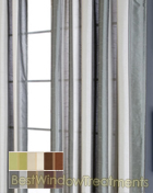 envoy Stripe Curtain Panel available in 6 colors