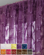 Eyelash Sheer Curtain Panel available in 11 colors