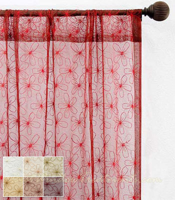 Fantasia Sheer Curtain Drapery Panels