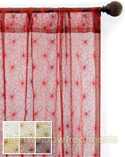 Fantasia Sheer Curtain Panel available in 6 colors