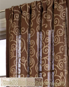 Geneva Scroll Linen Curtain Panel