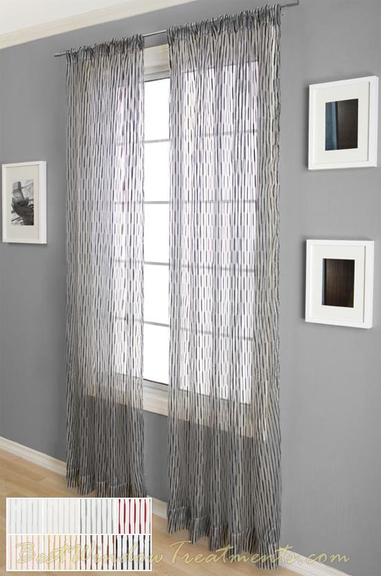 Glamour Sheer Curtain Drapery Panels