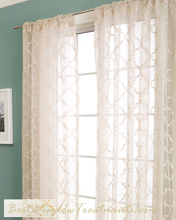Grand Luxe Sheer Curtain Drapery Panels