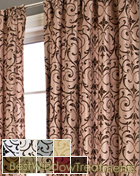 Lola Curtain Panel in available in 9 colors
