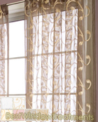 Melody Sheer Curtain Panel available in 6 colors