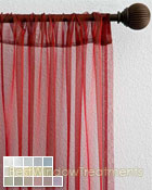 Organza Sheer Curtain Panel available in 16 color choices