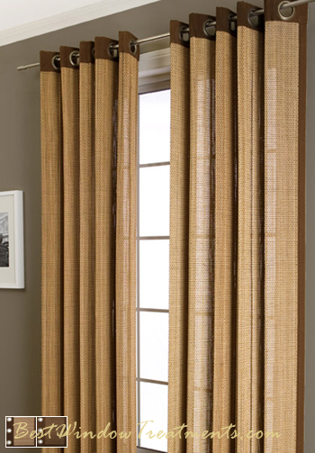 Plait Bamboo Curtain Panel Available In 2 Colors