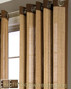 Plait Curtain Panel available in 2 colors