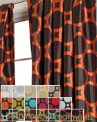 rival Circle Curtain Panel available in 18 colors
