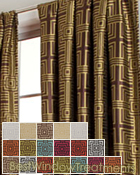 rival Square Curtain Panel available in 18 colors