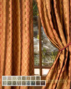Rockafeller Curtain Panel available in 17 color choices