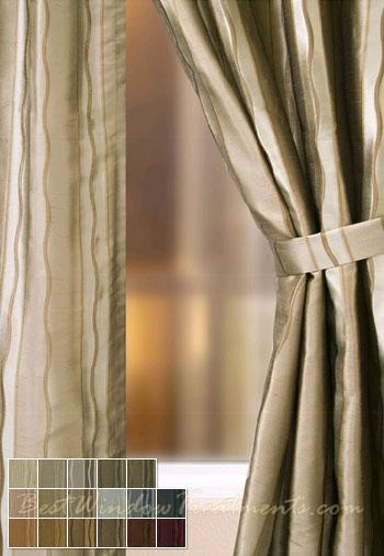 Rockafeller Stripe Curtain Panels Bestwindowtreatments Com