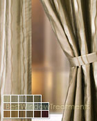 Rockafeller Stripe Curtain Panel available in 17 color choices