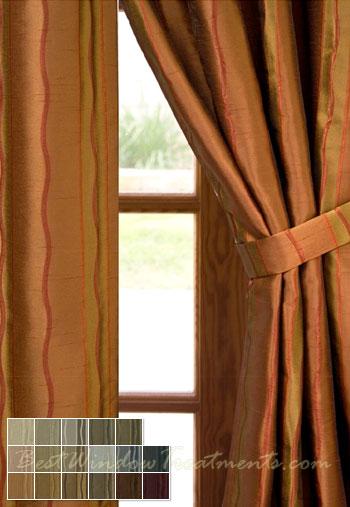 Rockafeller Stripe Drapery Panels Bestwindowtreatments Com