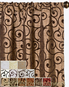 Serafina Scroll Scarf Swag Window Topper available in 13 colors