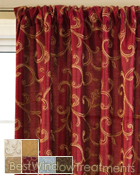 Stiletto Curtain Panel available in 6 colors