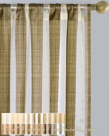 Summit Stripe Curtain Drapery Panels