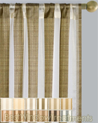 Summit Stripe Curtain Panel available in 12 colors