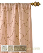 Tangier Curtain Panel available in 4 colors