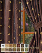 Truzzi Curtain Panel available in 14 colors
