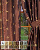 Truzzi Curtain Panel available in 14 color choices