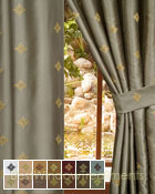 Truzzi Curtain Panel in 14 color choices