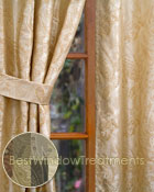 Vanderbilt Paisley Jacquard Curtain Panel available in 7 colors
