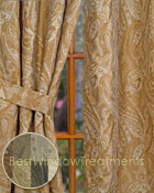 Vanderbilt Paisley Jacquard Curtain Panel available in 7 color choices
