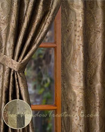 Vanderbilt Paisley Jacquard Curtain Panel