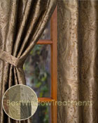 Vanderbilt Paisley Jacquard Curtain Panel in 7 colors