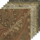 Vanderbilt Paisley Jacquard Fabric Swatch Sample