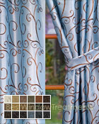 Chateau Curtain Panel available in 18 color choices