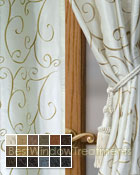 Chateau Curtain Panel available in 18 colors