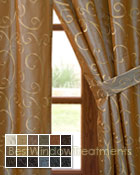 Chateau Curtain Panel in 18 colors