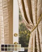 Fallbrook Vertical Pintuck Curtain Panel available in 13 color choices