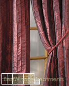 Fallbrook Vertical Pintuck Scarf Swag Window Topper available in 13 colors