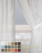 Mirror Sheer Curtain Panel available in 18 colors