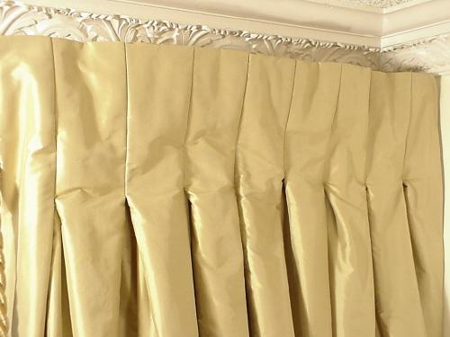 Pleated Curtains For Curtain Box : pleated photo close up inverted box pleat photo close up