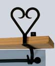 Heart Curtain Shelf Bracket