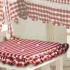 Classic Checks Red Chairpad set