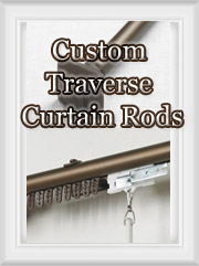 Custom Traverse Curtain Rod Set