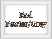 Pewter Silver Grey - Custom Metal Curtain Rods