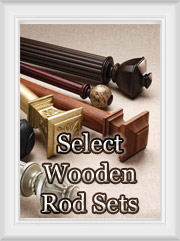 Select Wooden Curtain Rod Sets