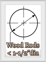 Medium Diameter Wood Rod Sets
