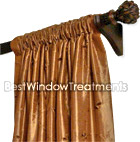 Custom Rod Pocket Drapes in Single Width Group 4 Fabrics