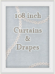 108 inch curtains - extra long window