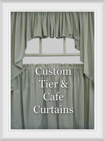 Custom Cafe Tier Curtains