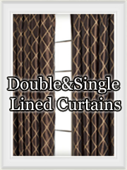 Double and Single Lined Curtains